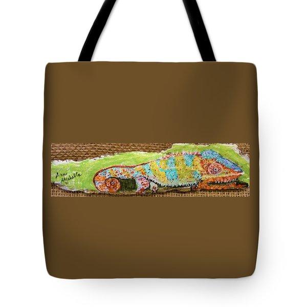 Chameleon Tote Bag by Ann Michelle Swadener