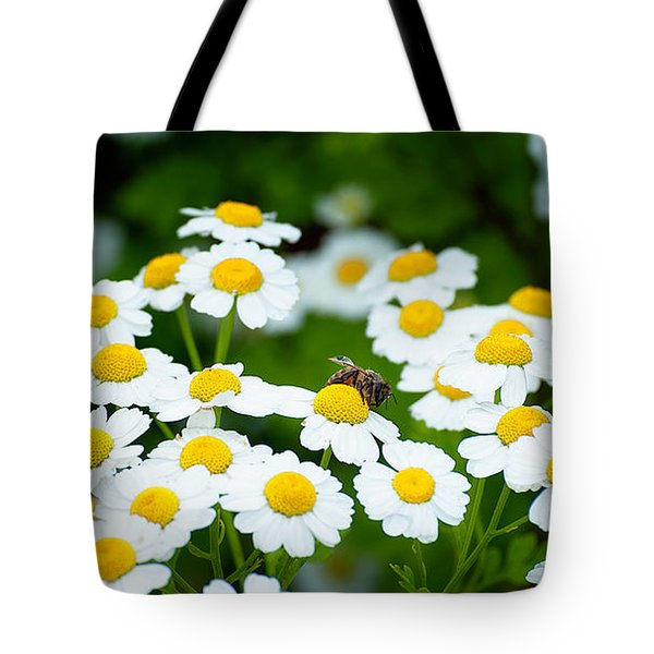 Chamomile Pollinating Tote Bag