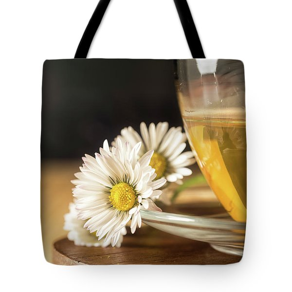 Tote Bag featuring the photograph Chamomile by Traven Milovich