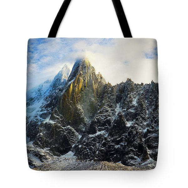 Tote Bag featuring the photograph Chamonix by Lucian Capellaro