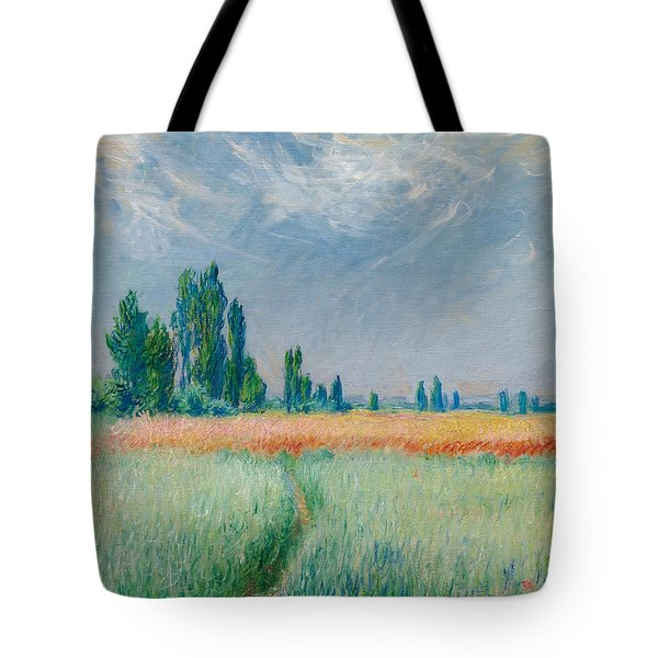 Tote Bag featuring the painting Champ De Ble by Claude Monet