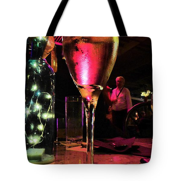 Tote Bag featuring the photograph Champagne And Jazz by Lori Seaman