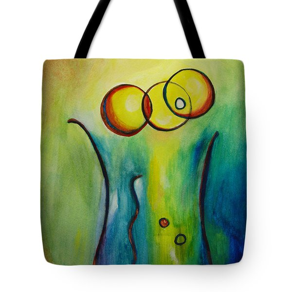 Champagne Tote Bag by Donna Blackhall