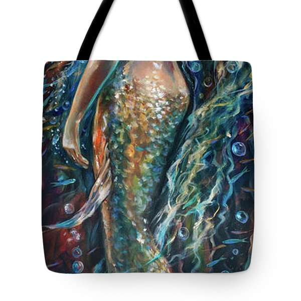 Tote Bag featuring the painting Champagne by Linda Olsen