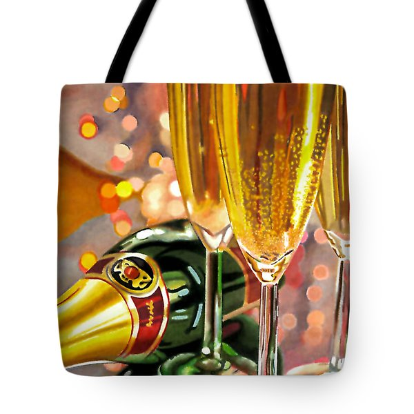 Champagne Wishes Tote Bag