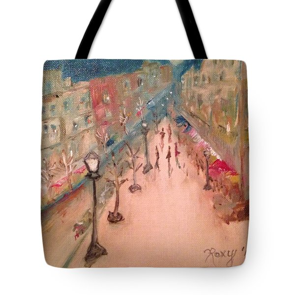 Champs De Elysee At Twilight. #paris Tote Bag