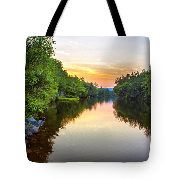 Chance Pond Brook Golden Hour  Tote Bag by Betty  Pauwels