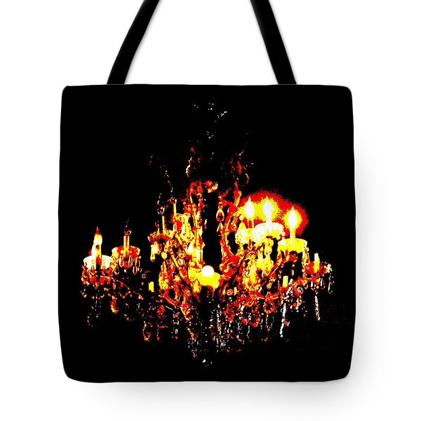 Tote Bag featuring the photograph Chandelier by W And F Kreations