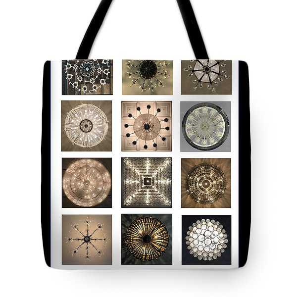Chandeliers From Chicago Poster Tote Bag