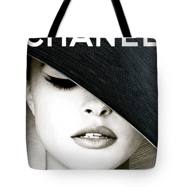 Chanel, Black Hat Cover Tote Bag