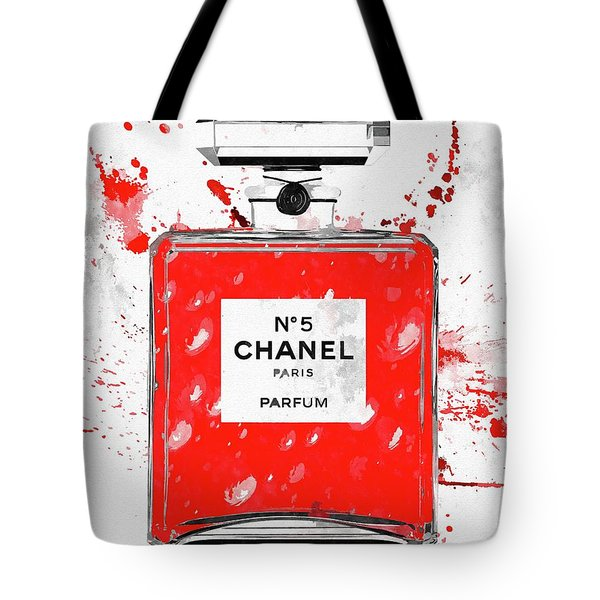Chanel No 5 Red Tote Bag
