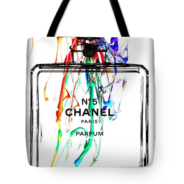Chanel No. 5 Watercolor Tote Bag