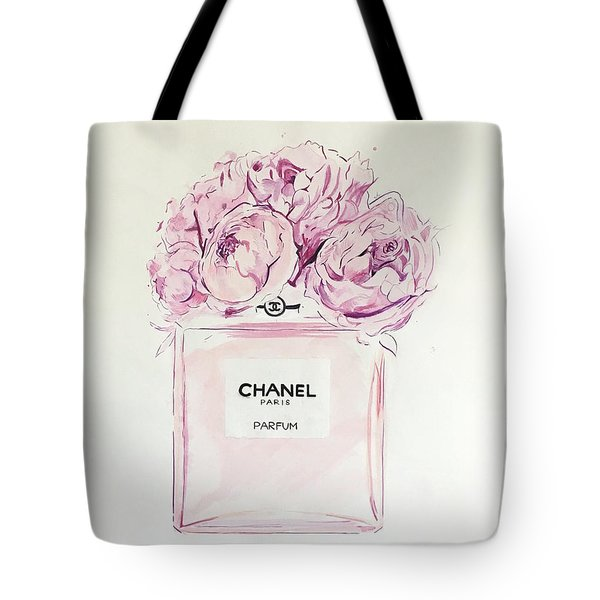 Chanel Peonies Tote Bag