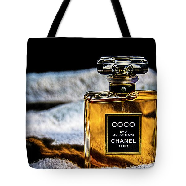 Chanel Vintage Perfume Bottle Tote Bag by Renee Anderson
