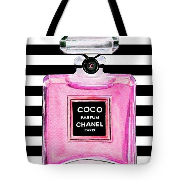 Chanel Pink Perfume 1 Tote Bag