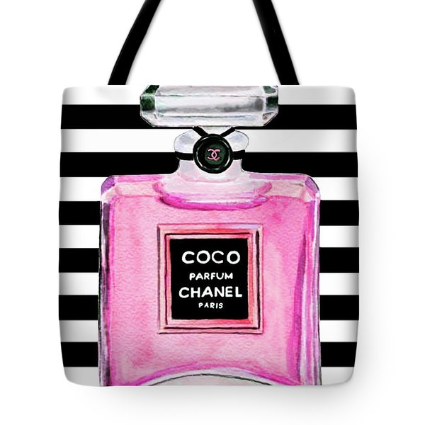 Chanel Pink Perfume 1 Tote Bag