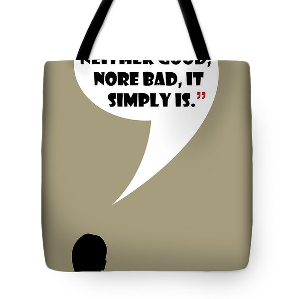 Change Is Not Bad - Mad Men Poster Don Draper Quote Tote Bag