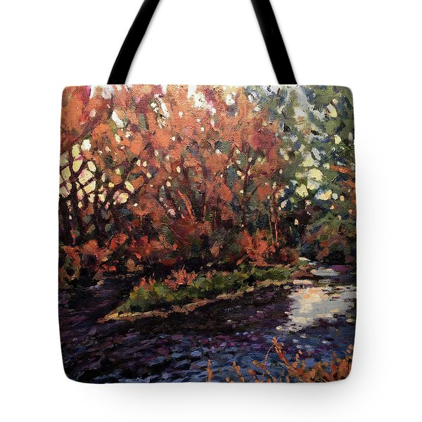 Changing Colors On Boise River Tote Bag