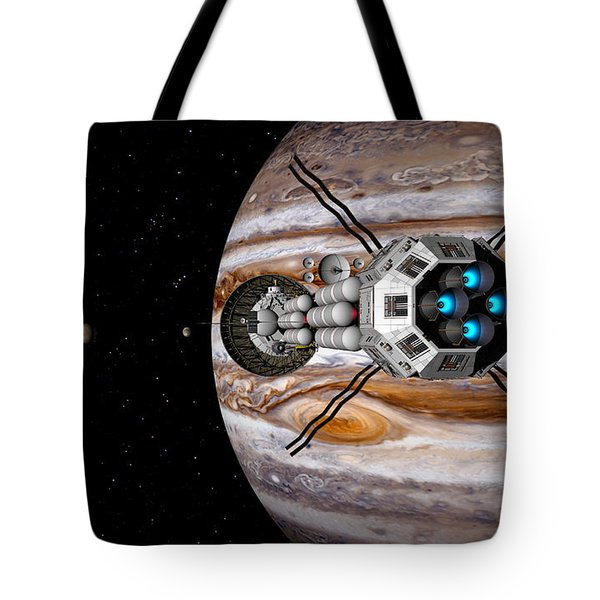 Tote Bag featuring the digital art Changing Course by David Robinson