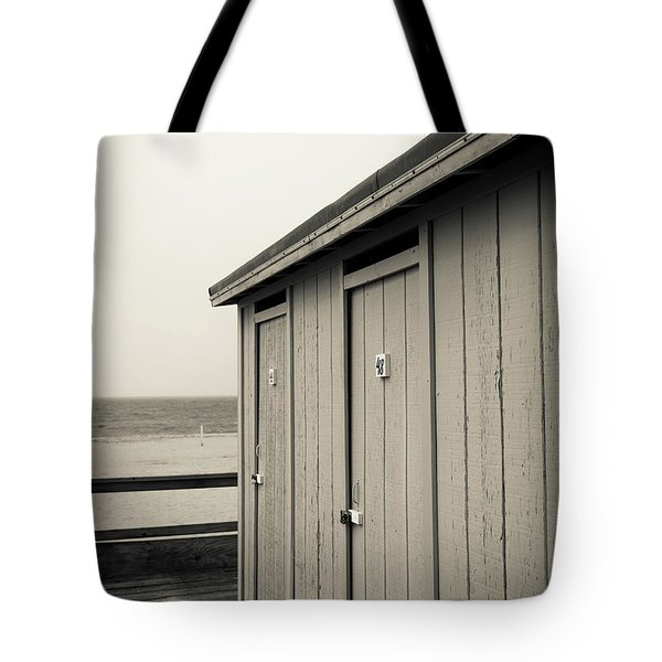 Tote Bag featuring the photograph Changing Rooms At The Beach by Edward Fielding