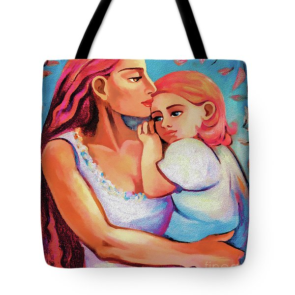 Tote Bag featuring the painting Changing Seasons by Eva Campbell