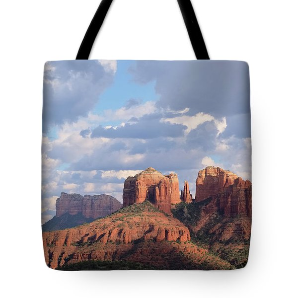 Tote Bag featuring the photograph Changling Light - Cathedral Rock by Patricia Davidson
