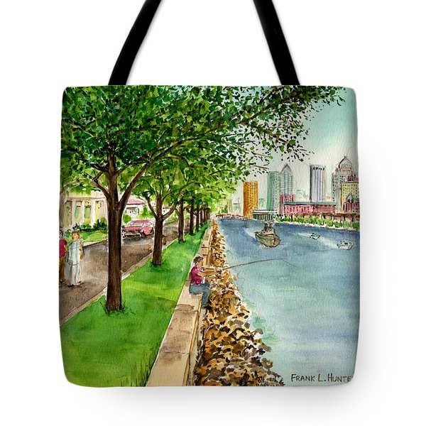 Channel Drive Tampa Florida Tote Bag by Frank Hunter