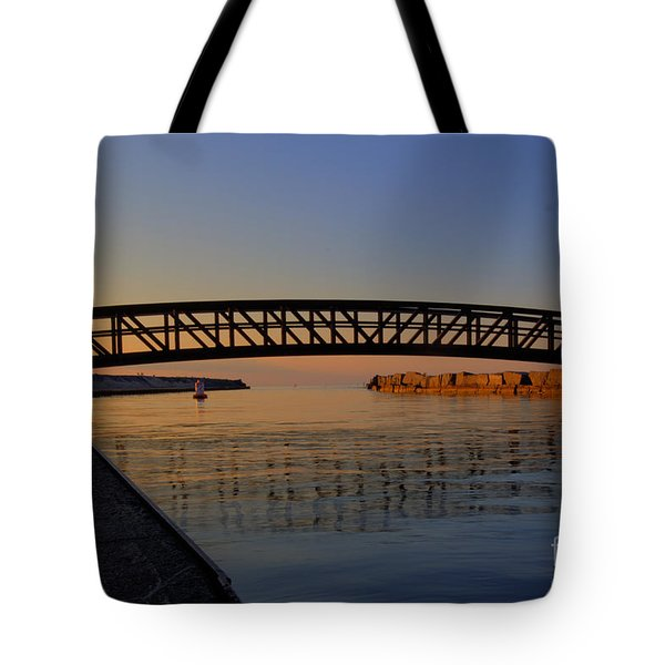 Channel Sunset Tote Bag