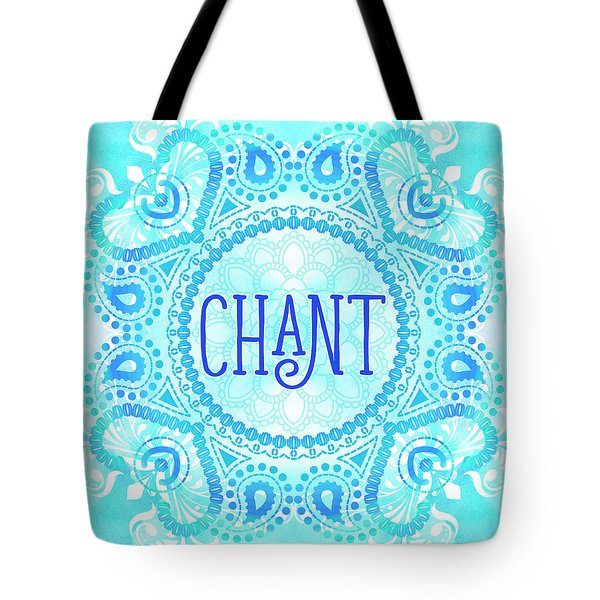 Tote Bag featuring the digital art Chant by Tammy Wetzel