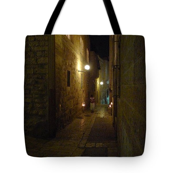 Tote Bag featuring the photograph Chanukah At The Old City Of Jerusalem by Dubi Roman