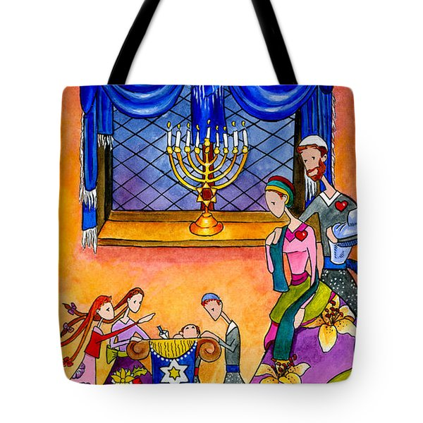 Chanukah Dreidel Tote Bag