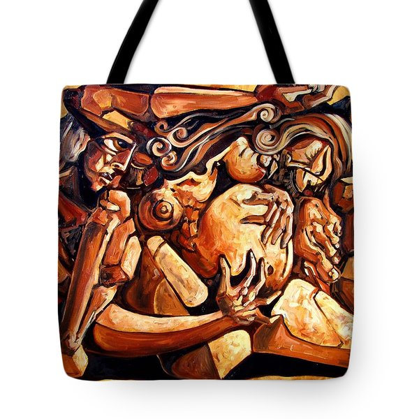 Chaos After The News Tote Bag by Darwin Leon