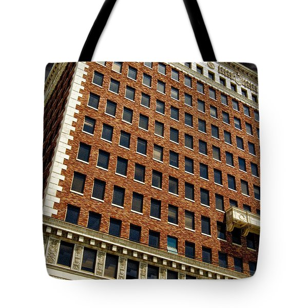 Chaos At The Federal Building Tote Bag by Bob Winberry