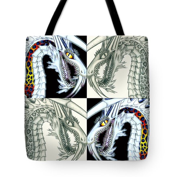 Chaos Dragon Fact Vs Fiction Tote Bag