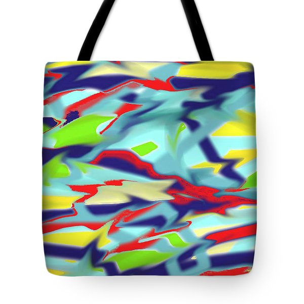 Chaos Into Form Blue Tote Bag