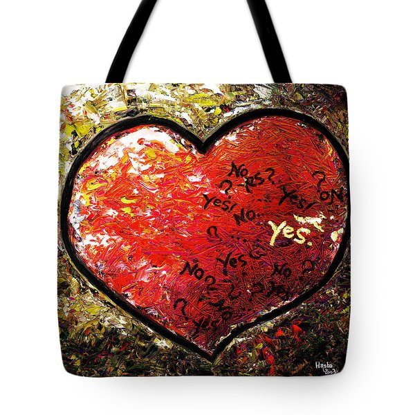 Chaos In Heart Tote Bag