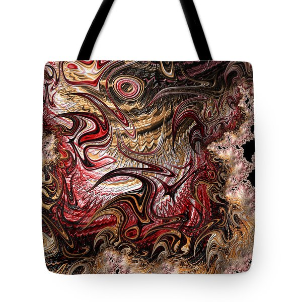 Tote Bag featuring the digital art Chaos by Michele A Loftus