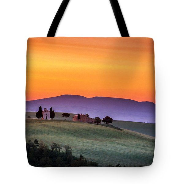 Chapel And Farmhouse In Tuscany Tote Bag