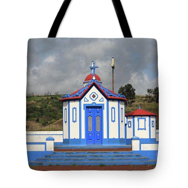 Chapel In Agua De Pau - Azores Tote Bag by Gaspar Avila