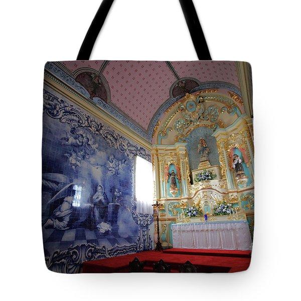 Chapel In Azores Islands Tote Bag by Gaspar Avila
