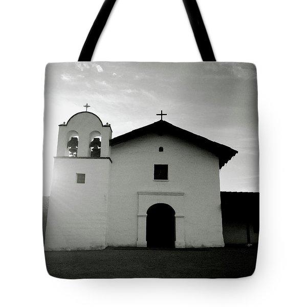 Chapel In The Shadows- Art By Linda Woods Tote Bag