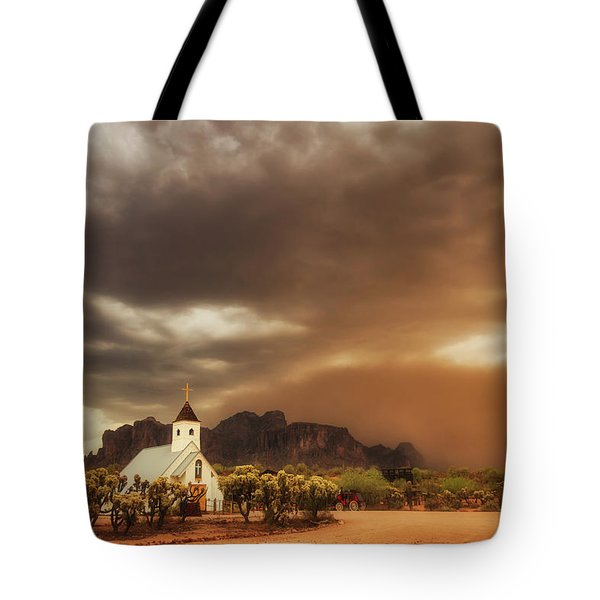 Tote Bag featuring the photograph Chapel In The Storm by Rick Furmanek