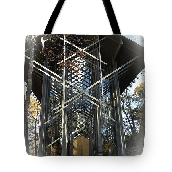 Tote Bag featuring the photograph Chapel In The Woods by Lena Wilhite