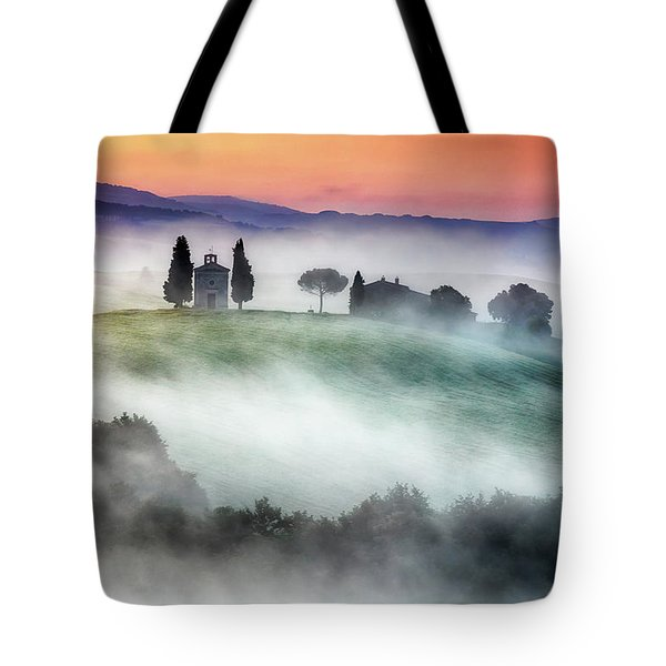 Chapel Of Our Lady Of Vitaleta Tote Bag by Evgeni Dinev