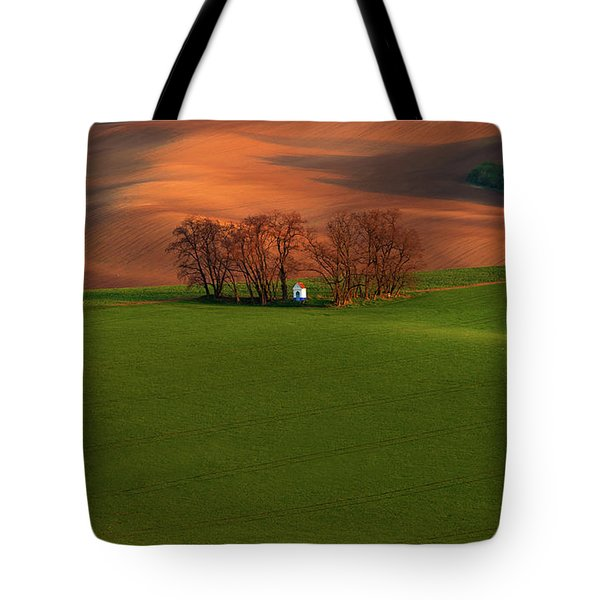 Tote Bag featuring the photograph Chapel St Barbara. Moravia by Jenny Rainbow