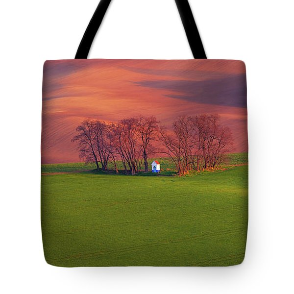 Tote Bag featuring the photograph Chapel St Barbara. Moravian Tuscany by Jenny Rainbow