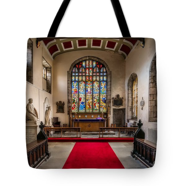 Chapel Stained Glass Tote Bag