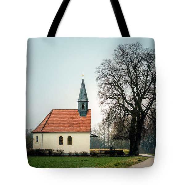 Chapel Under The Tree Tote Bag by Daniel Precht