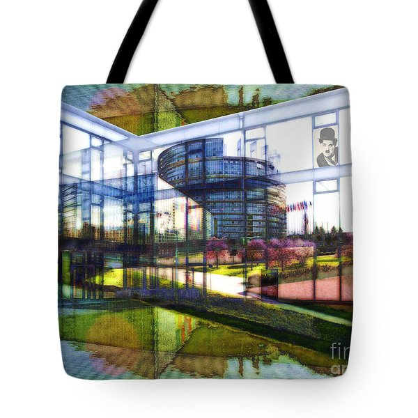 Tote Bag featuring the painting Chaplin Ihn Strassburg by Mojo Mendiola