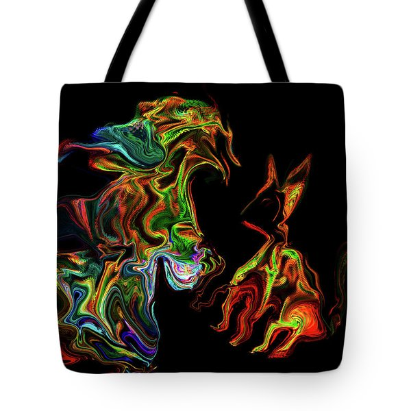 Character With Cat Tote Bag